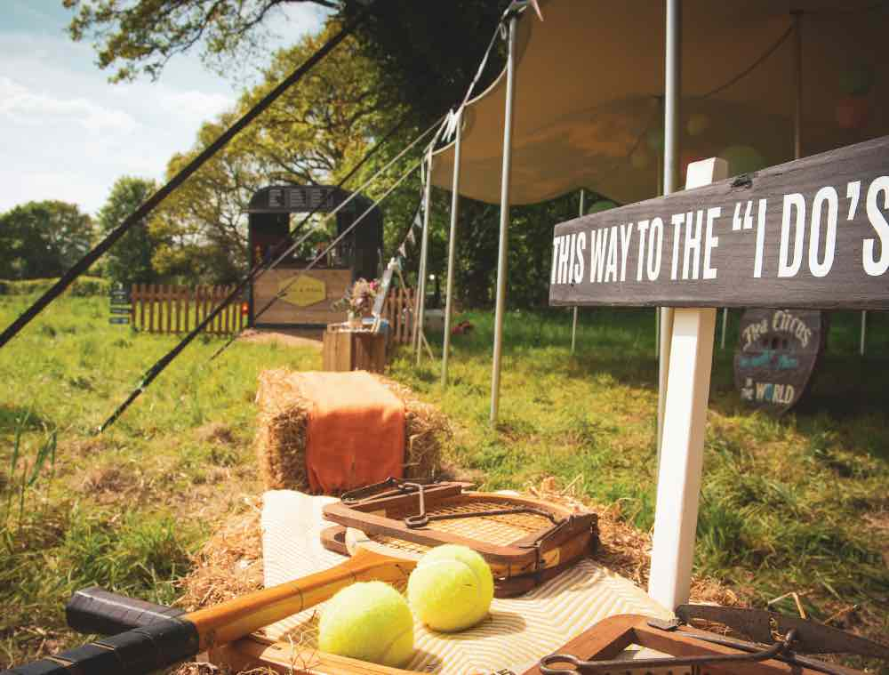 Filly & Foal Horse Box Bar stretch tent signage